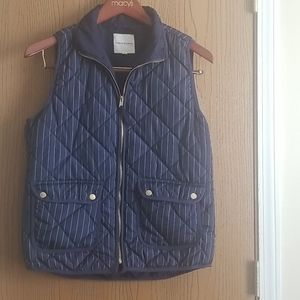Thread & Supply Blue Puffer Vest Size Large